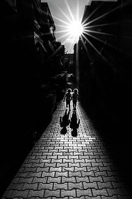 Sidewalk Photograph - Twins by Yasemin Bakan