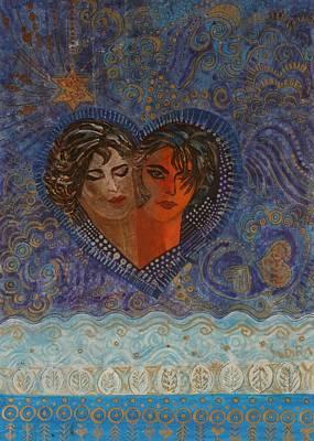 Soul Sisters Photograph - Twinsouls, 2007 Mixed Media by Sabira Manek