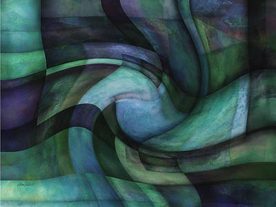 Mixed Media - Twirl - Abstract Art by Ann Powell