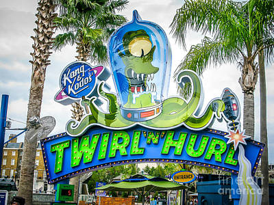 Twirl Ride Art Print