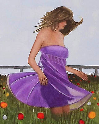 Painting - Twirling In A Purple Dress by Cory Clifford