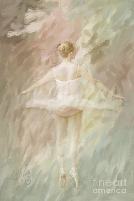 Art Print featuring the painting Twirling by Linda Blair