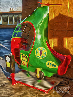 Painting - Twirly Bird - Red And Green by Gregory Dyer