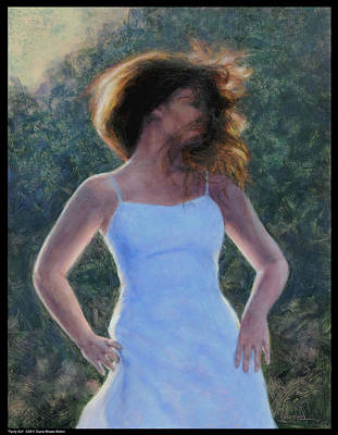 Painting - Twirly Girl by Diana Moses Botkin