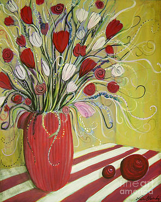 Painting - Twirly Still Life by Lee Owenby