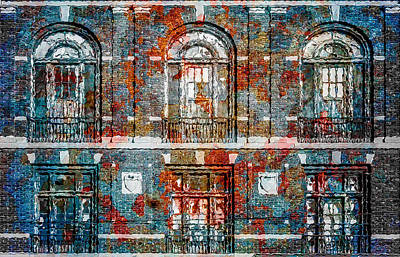 Cityspace Mixed Media - Twisted Bricks by David Kuhn