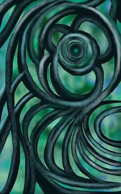 Painting - Twisted by Christine Fournier
