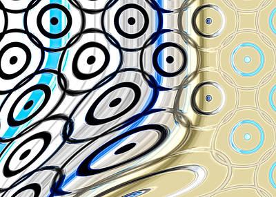 Fractal Digital Art - Twisted Circles by Hakon Soreide