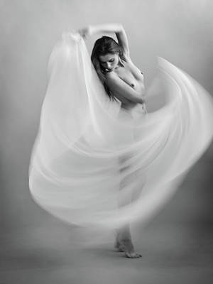Angel Photograph - Twisted Fabric by