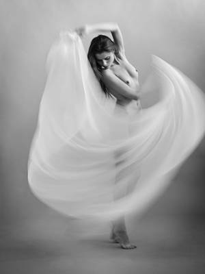 Dancer Photograph - Twisted Fabric by Dieterplogmann