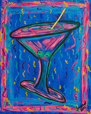 Martini Painting Royalty Free Images - Twisted Martini Royalty-Free Image by Susan Cliett