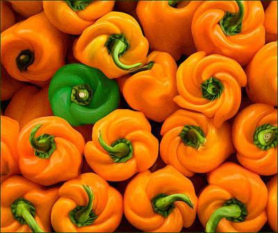 Photograph - Twisted Peppers by Steve Zimic