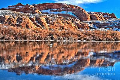 Photograph - Twisted Red Rock Reflections by Adam Jewell