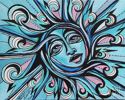 Painting - Twisted - Sun  by Grace Liberator