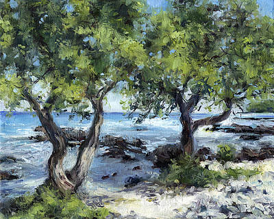 Haleiwa Painting - Twisted Trees by Stacy Vosberg