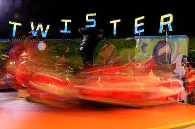 Rollercoaster Photograph - Twister by Randy Walton