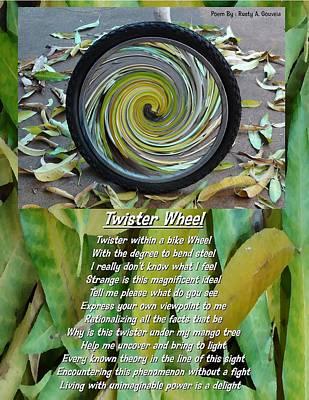 Mango Mixed Media - Twister Wheel by Rusty Gouveia