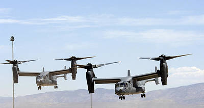 1st Base Photograph - Two Air Force Cv-22 Ospreys by Russell Scalf - L Brown