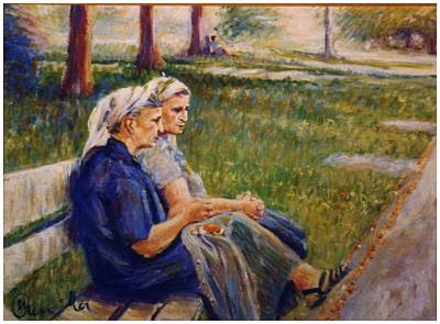 Painting - Two Albanian Ladies by Walter Casaravilla