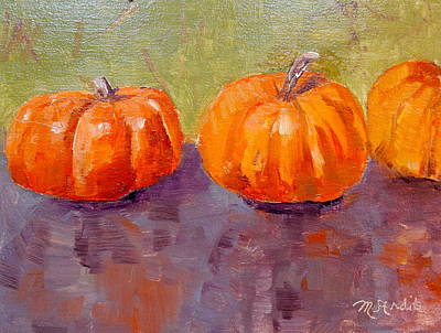 Painting - Two And A Half Pumpkins by MaryAnne Ardito