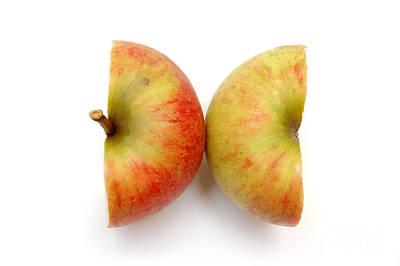 Two Apple Halves Art Print by Michal Bednarek