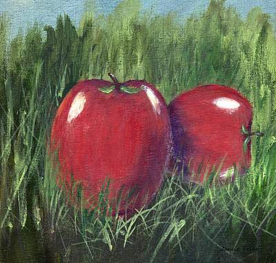 Painting - Two Apples by Jamie Frier