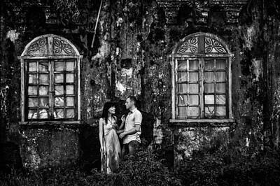Photograph - Two At The Old Wall 1. Margao. India by Jenny Rainbow