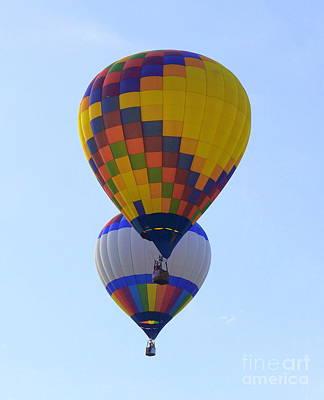 Photograph - Two Balloons by Rachel Munoz Striggow