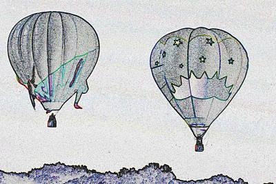 Two Balloons  Art Print