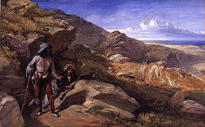 Two Bandits In The Hills, 1857 Art Print