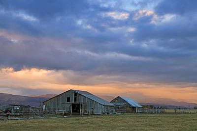 Photograph - Two Barns In Heber Valley. by Johnny Adolphson