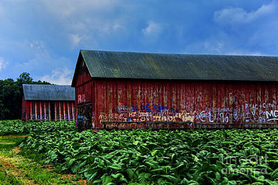 Photograph - Two Barns Ready by Rick Bragan