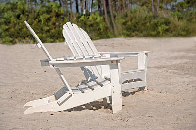 Photograph - Two Beach Chairs by Charles Beeler