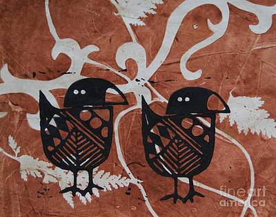 Two Beaks Art Print by Cynthia Lagoudakis