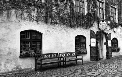 Photograph - Two Benches In Munich by John Rizzuto