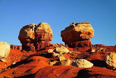Two Big Rocks At Capital Reef Art Print