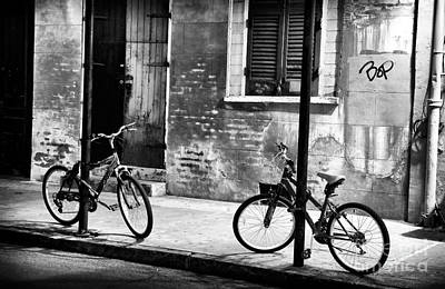 Photograph - Two Bikes At Night by John Rizzuto