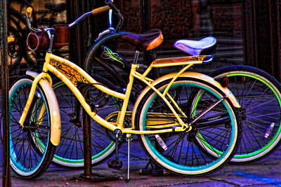 Photograph - Two Bikes by Audreen Gieger