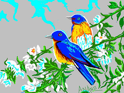 Two Birds Art Print by Anand Swaroop Manchiraju