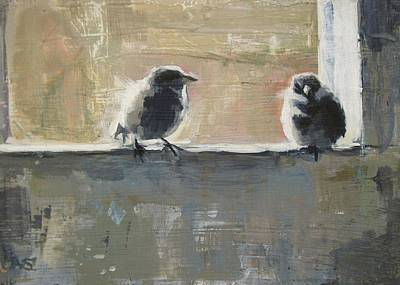 Wall Art - Painting - Two Birds by Annie Salness