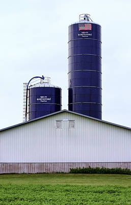 Photograph - Two Blue Silos by Christi Kraft