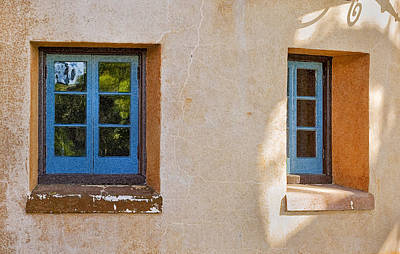 Photograph - Two Blue Windows by Rich Franco