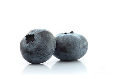 Blueberries Photograph - Two Blueberries by Peter Hatter