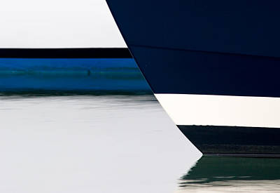 Two Boats Moored Print by CJ Middendorf