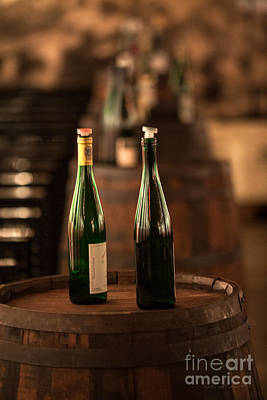 Wine Cellar Photograph - Two Bottles Of Wine by Iris Richardson