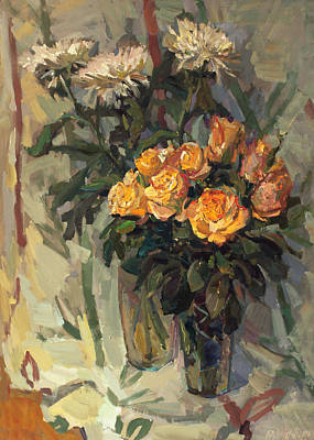 Painting - Two Bouquets by Juliya Zhukova