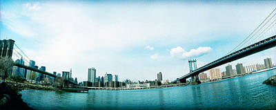 Dumbo Photograph - Two Bridges Across A River, Brooklyn by Panoramic Images