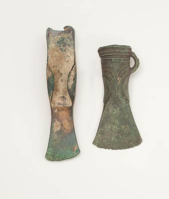 Childe Photograph - Two Bronze Age Axes Showing Development by Paul D Stewart