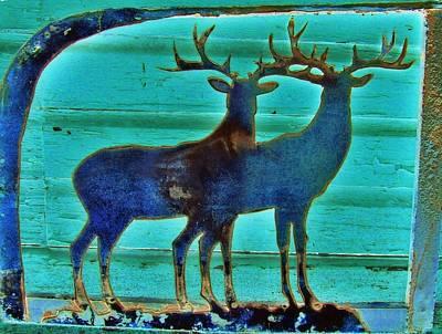 Two Bucks Art Print