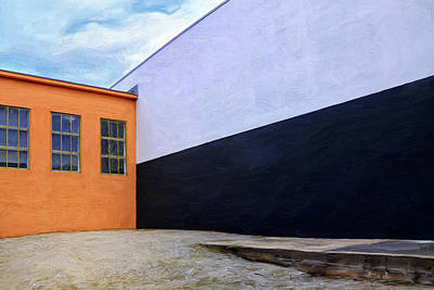 Loading Docks Painting - Two Buildings by Dominic Piperata
